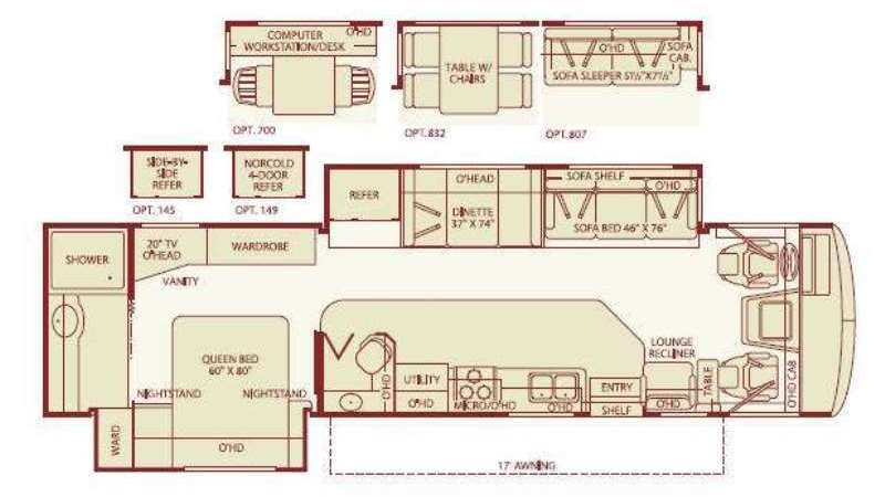 fleetwood motorhomes floor plans review home co. Black Bedroom Furniture Sets. Home Design Ideas